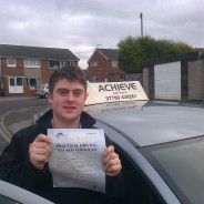 Testimonial from Karen&#8230;Mum of James Hogg who passed his test in February 2013.